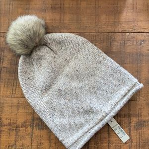 Madewell Lambswool Hat With Pom Pom